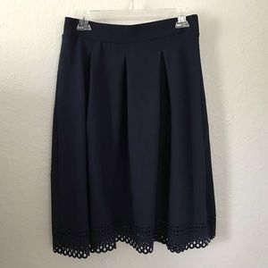 Cato skirt with hem cutout detail